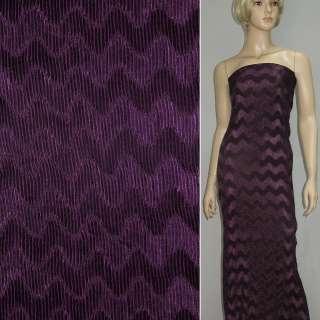 Атлас темно-фиолетовый жатый в елочку ш.140