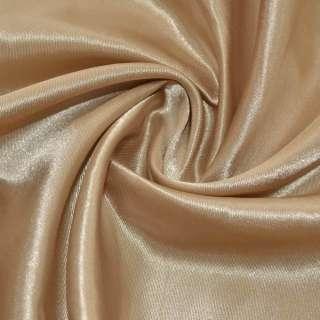 Атлас бежево-коричневый ш.150