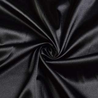 Атлас стрейч черный ш.150
