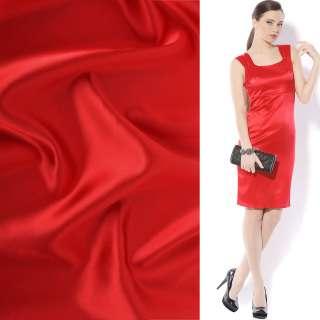 Атлас стрейч шамус красный яркий ш.150