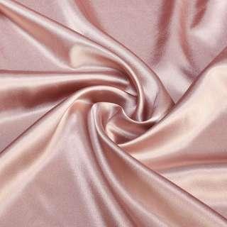 Атлас стрейч шамус розовый с коричневым оттенком ш.150
