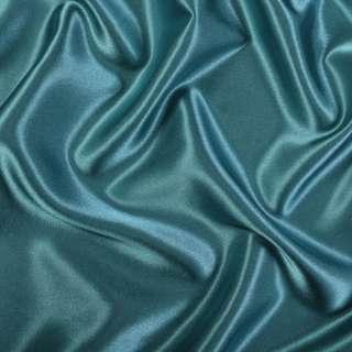 Атлас стрейч шамус зелено-синий ш.150