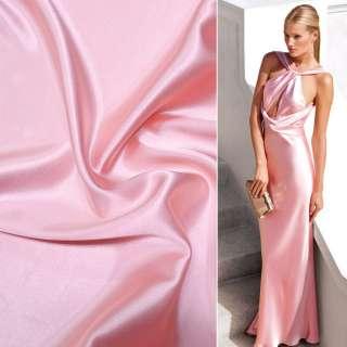 Атлас стрейч шамус розово-перламутровый ш.150