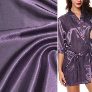 Атлас стрейч шамус сиренево-фиолетовый ш.150