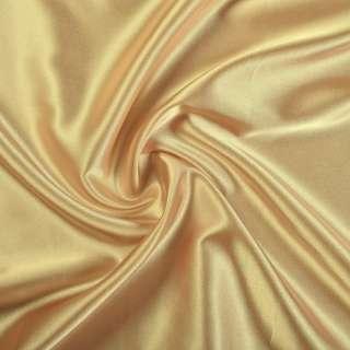 Атлас стрейч шамус золотистый ш.150