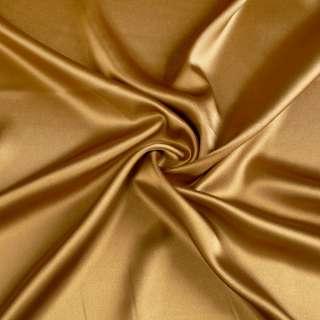 Атлас стрейч шамус горчично-золотистый ш.150