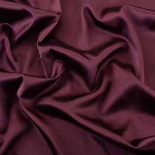Атлас стрейч шамус бордовый темный ш.150
