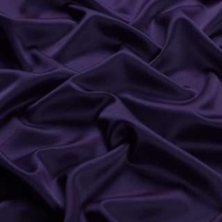 Шелк японский стрейч сине-фиолетовый темный ш.150