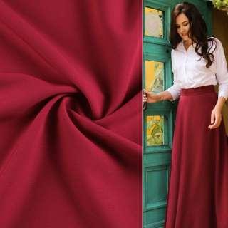 Креп костюмный бистрейч вишневый ш.150