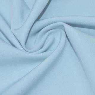 Креп костюмный бистрейч голубой светлый ш.150
