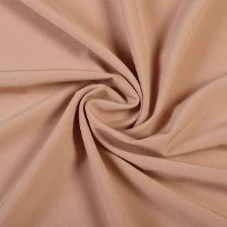 Ткань костюмная бистрейч бежево-розовая ш.150