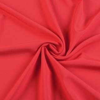 Ткань костюмная бистрейч алая, ш.150