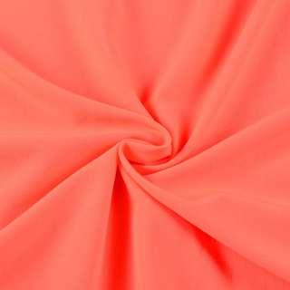 Бистрейч плательный оранжевый неон, ш.150
