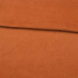 Микровельвет оранжевый темный не стрейч ш.145