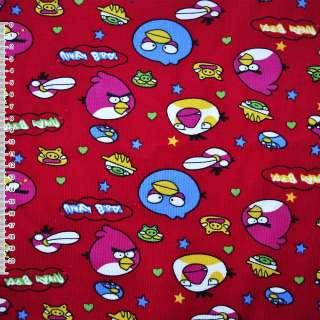 Микровельвет красный Angry Birds ш.110