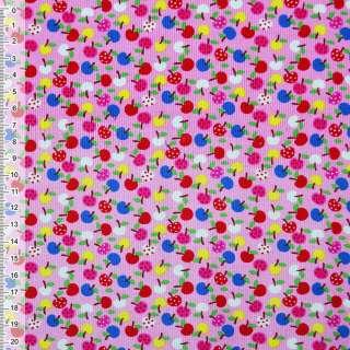 Микровельвет розовый яблоки ш.115