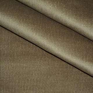 Микровельвет стрейч коричневый светлый с серебряными блестками ш.140