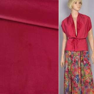 Велюр костюмный красный темный ш.150