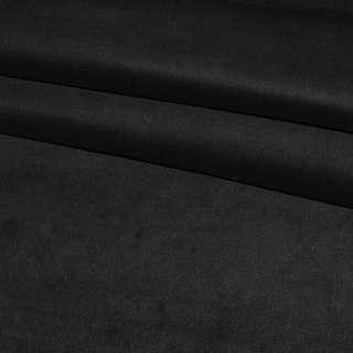 Велюр хлопковый стрейч черный ш.110