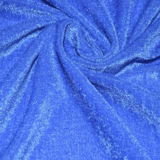 Велюр стрейч голубой темный ш.150