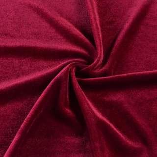 Велюр стрейч красный темный, ш.160
