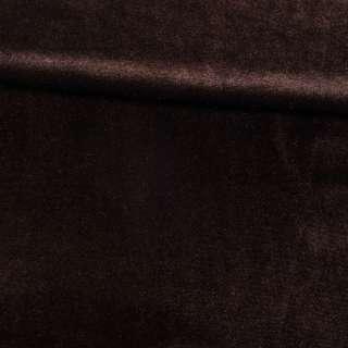 Велюр стрейч коричневый темный, ш.165