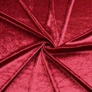 Велюр стрейч красный темный, ш.170