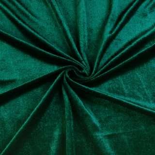 Велюр стрейч зеленый темный, ш.170