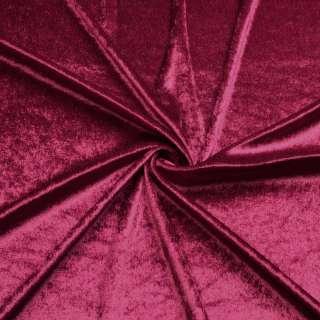 Велюр стрейч бордовый, ш.170
