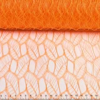 """Гипюр жесткий """"листья"""" оранжевый, ш.160"""