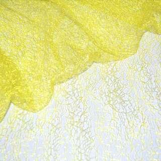 Гипюр-паутинка желтая яркая ш.150