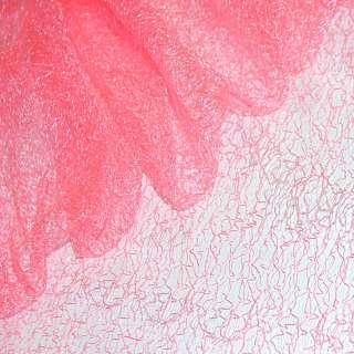 Гипюр-паутинка розовая неоновая ш.150