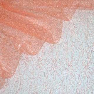 Гипюр-паутинка персиково-розовая ш.150