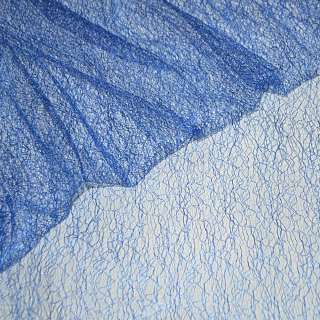 Гипюр-паутинка синий (электрик) ш.150