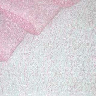 Гипюр-паутинка бледно-розовая ш.150