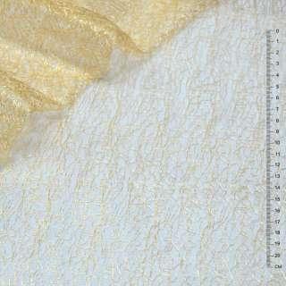 Гипюр-паутинка золотисто-рыжая ш.150