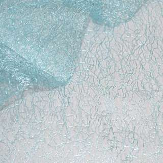 Гипюр-паутинка бирюзово-голубая ш.150