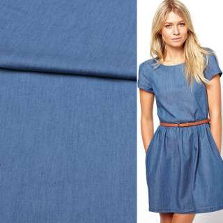 Джинс рубашечный синий светлый, ш.150