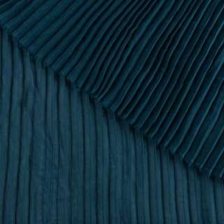 Креп гофре бирюзовый темный ш.140 (продается в натянутом виде)