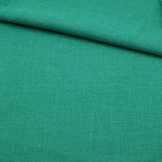 Креп лен стрейч зелено-бирюзовый, ш.150