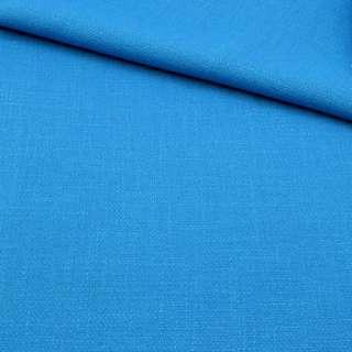 Креп лен стрейч голубой яркий, ш.150