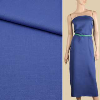 Креп лен стрейч голубой темный, ш.150