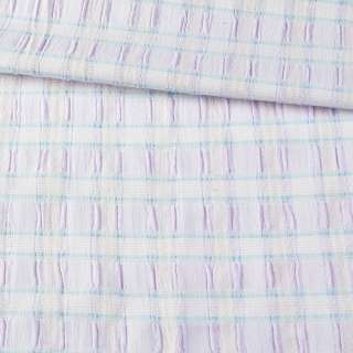 """Ткань юбочная стрейч сиреневая в голубую полоску """"шик"""" ш.130"""