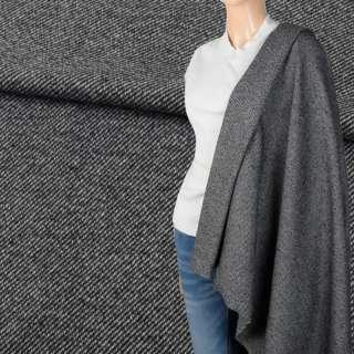 Твид костюмный серый диагональ ш.150