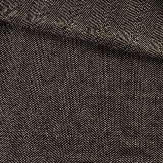 Твид елочка бежево-черный, ш.150