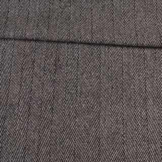 Твид елочка черно-белый 40мм, ш.150