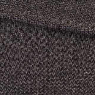 Твид елочка серо-черный 8мм, ш.152