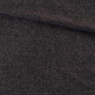 Твид елочка черно-серый, ш.136