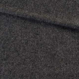 Твид елочка серо-черный 8мм, ш.135