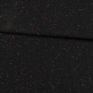 Твид черный с цветными вкраплениями ш.150